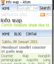 Mobile simple blue b1